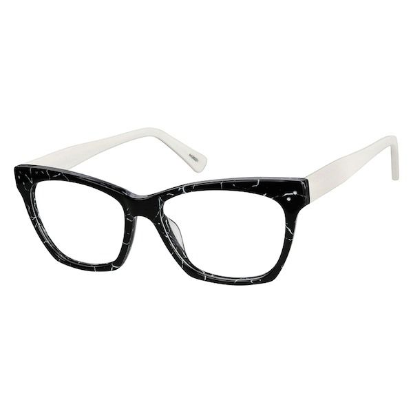 1468bb6cbe2 Zenni Womens Cat-Eye Prescription Eyeglasses Black Tortoiseshell Plastic  4428221