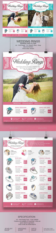 Wedding Rings Flyer Template