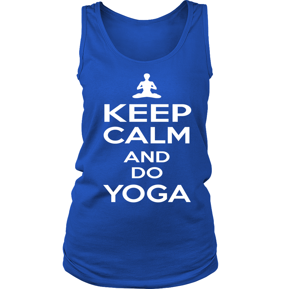 "Women's Soft Tank Top ""KEEP CALM AND DO YOGA"""
