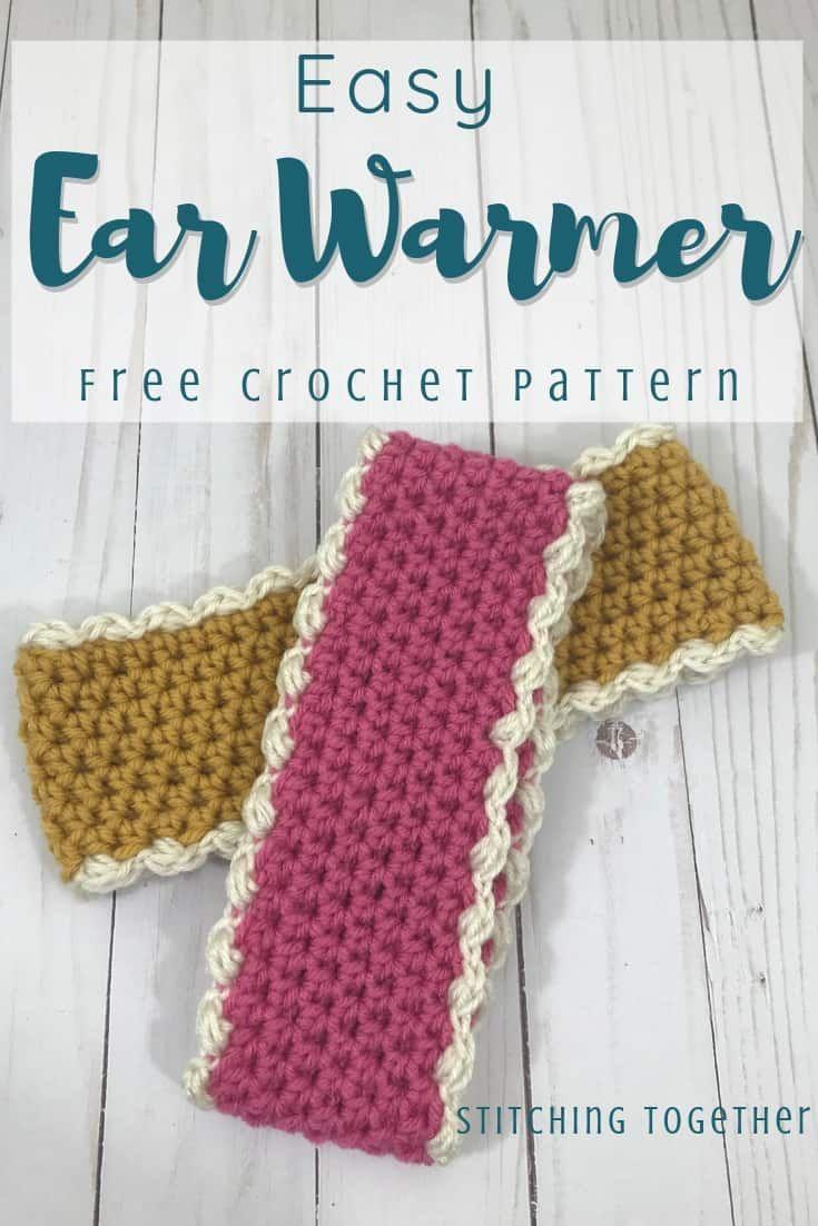 Crochet Ear Warmer Pattern [with a Size Chart!] | Stitching Together #crochetedheadbands