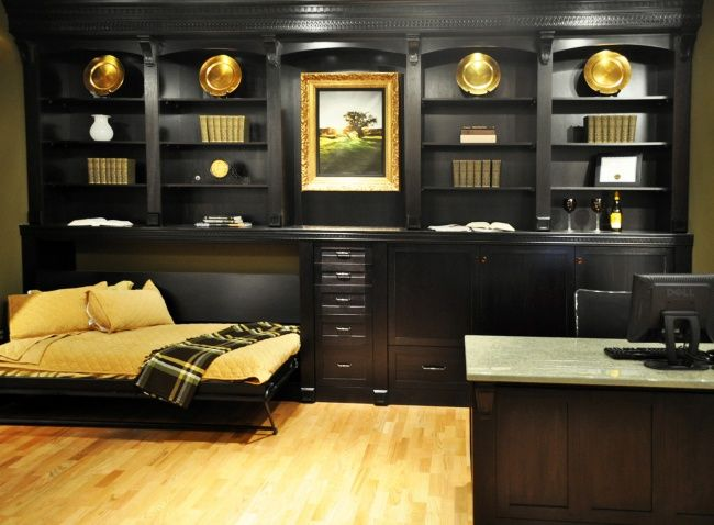 traditional hidden home office. Luxury Home Office With Hidden Wall Bed For Guests Traditional