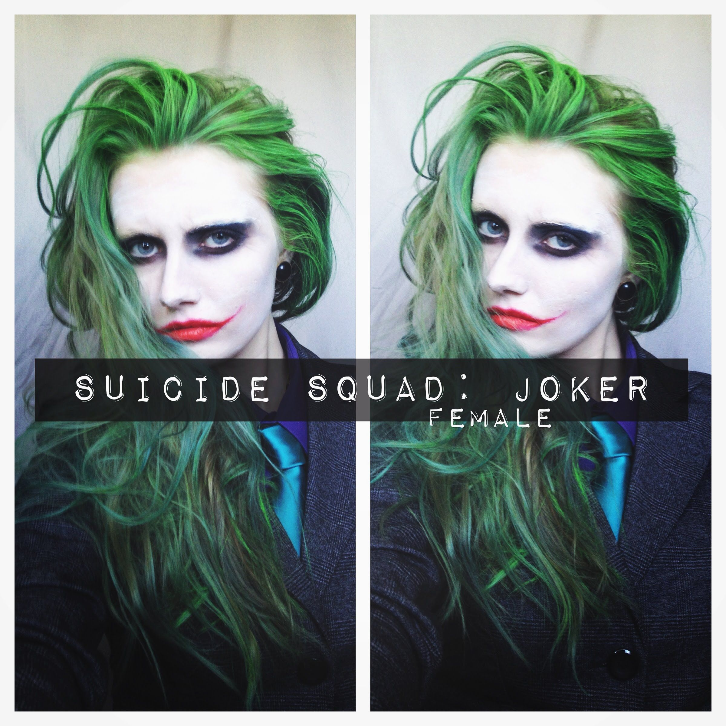 SUICIDE SQUAD: JOKER MAKEUP & HAIR (female) | Makeup and vfx ...