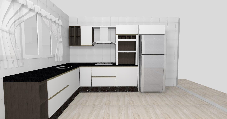 Cozinha Planejada Em L Com Cooktop Stunning Cozinha Com Bancada