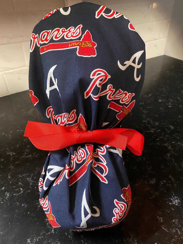 Atlanta Braves Scrub Hat Atlanta Braves Scrub Cap Baseball Etsy In 2020 Scrub Hats Womens Scrub Hat Scrub Caps Women