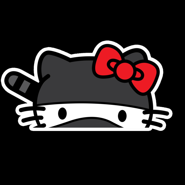 Peeker Anime Peeking Sticker Car Window Decal Pk450 Hello Kitty Hello Kitty Car Stickers Window Decals [ 1500 x 1500 Pixel ]