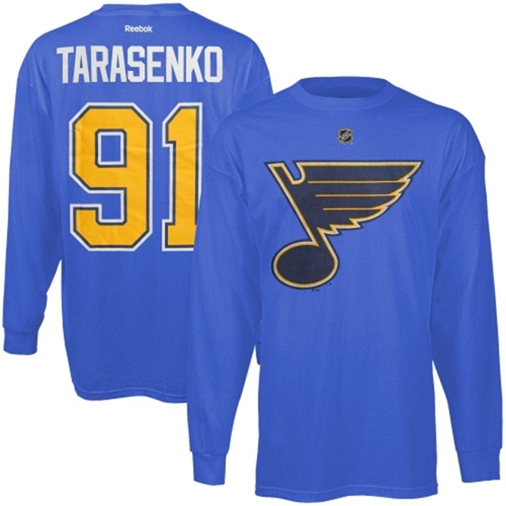St. Louis Blues Vladimir Tarasenko Reebok Royal Blue Name & Number Long Sleeve T-Shirt