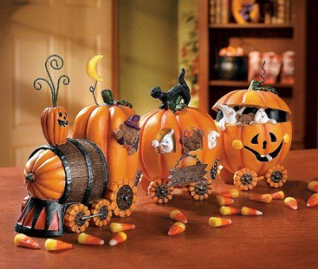 pumpkin experess train kitchen decoration halloween - Decorated Halloween Pumpkins