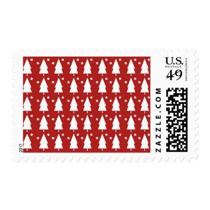 Christmas Trees  Stars Holiday Postage Stamps Christmas tree