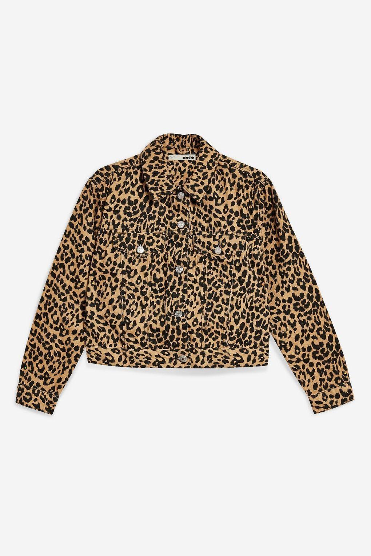 fdc1aa737e3516 Leopard Print Fitted Denim Jacket - Shop All Sale - Sale - Topshop USA