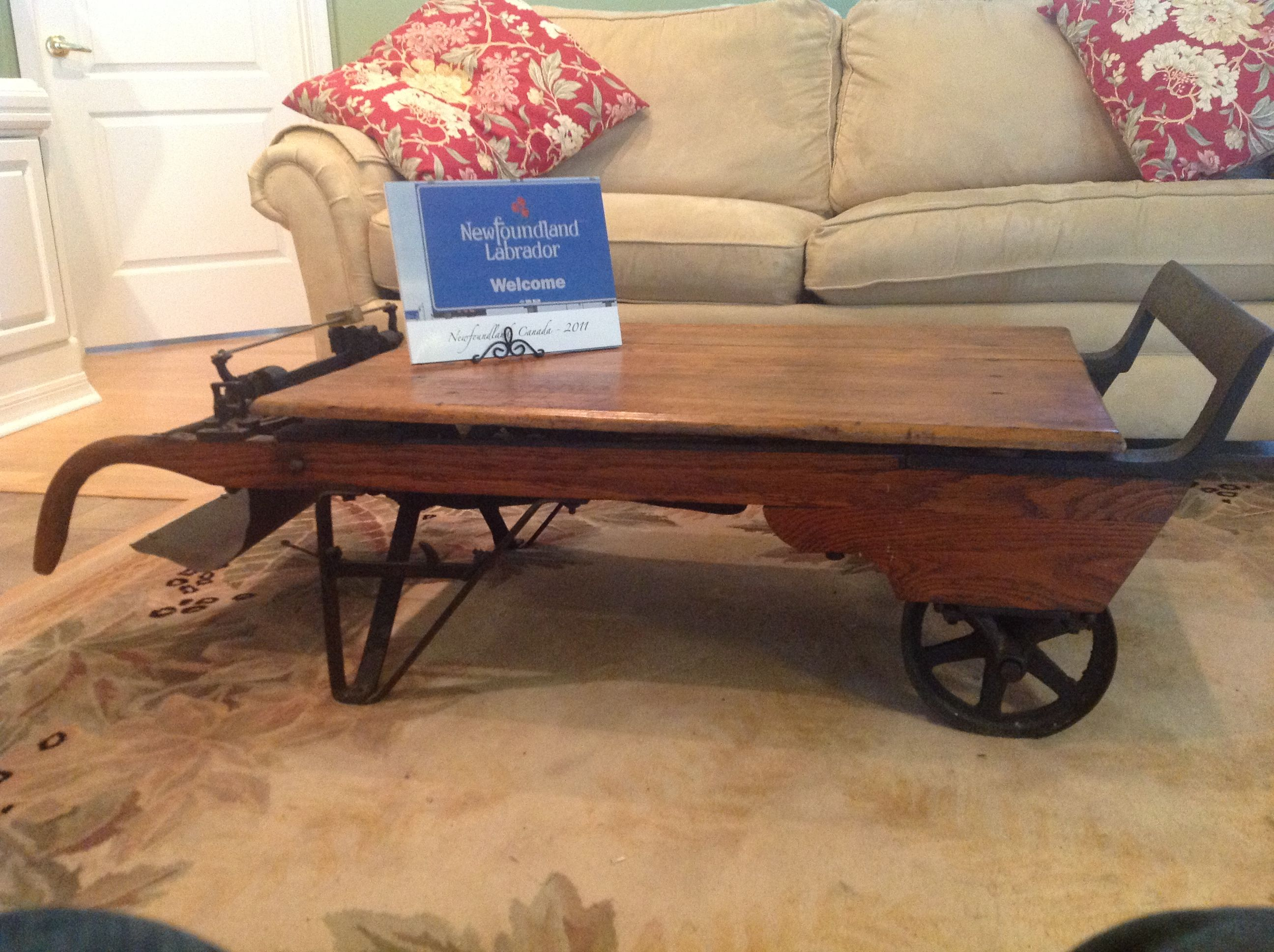 Pin By V H On Vintage Props Barn Wood Crafts Living Room Coffee Table Coffee Table [ 1936 x 2592 Pixel ]