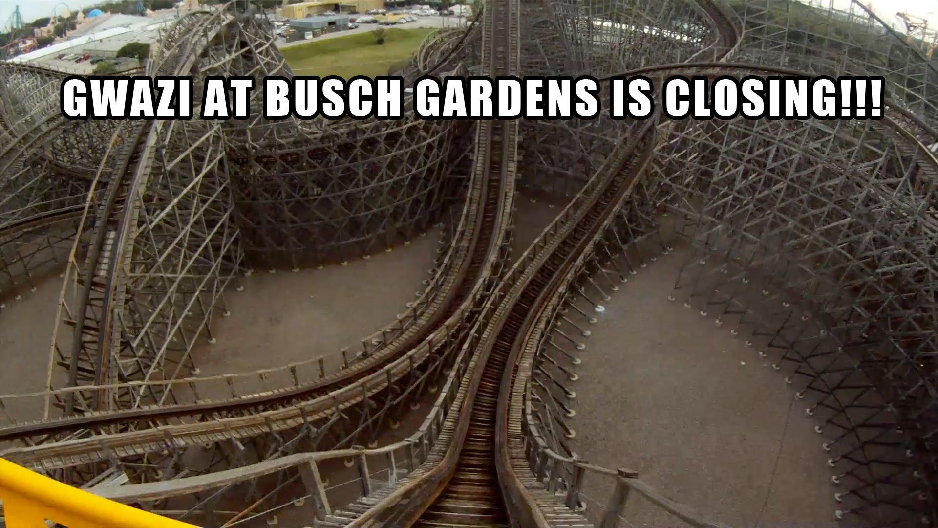 Gwazi Wooden Roller Coaster Pov Closing In Feb 2015 Busch