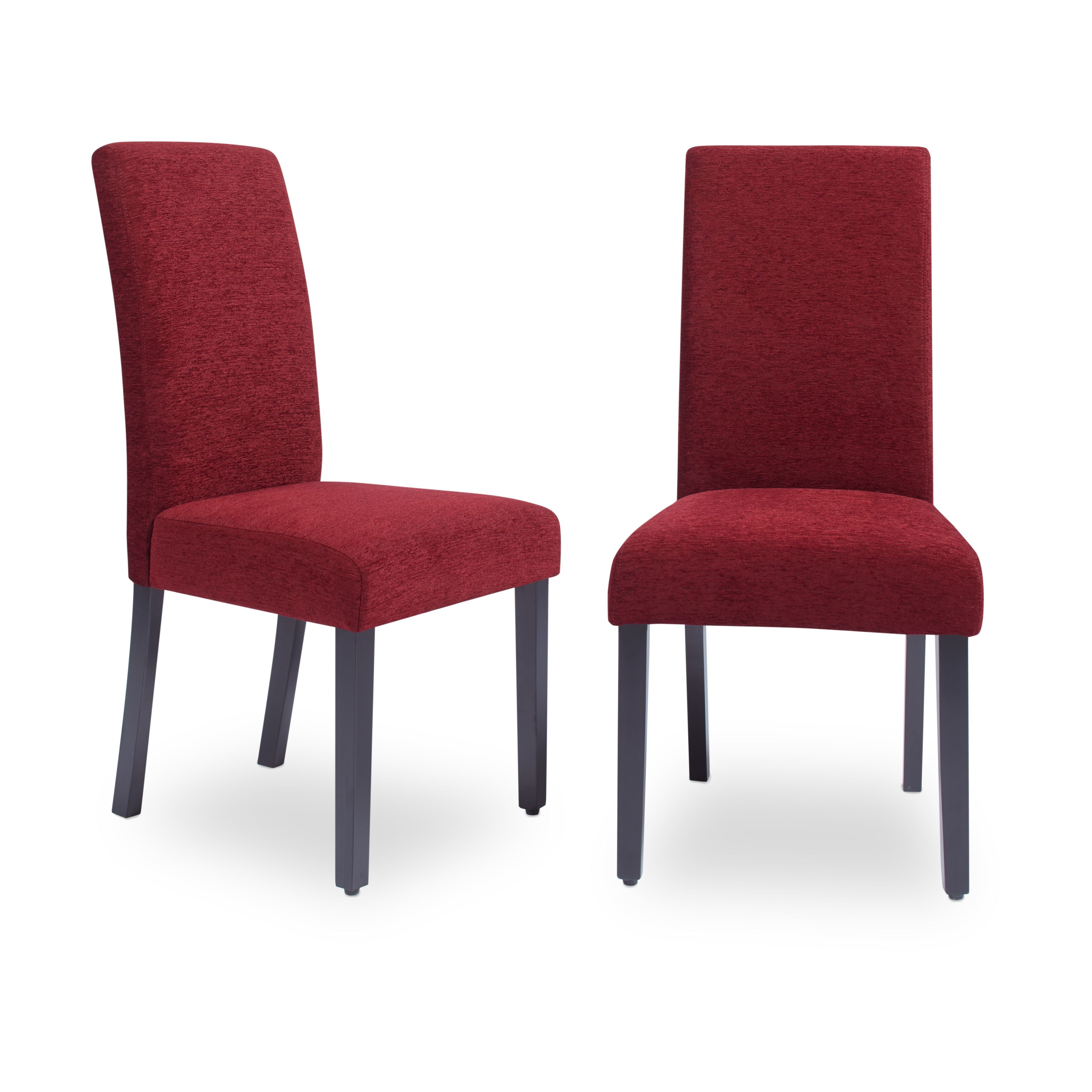 Red Upholstered Dining Chairs Aprilia Upholstered Dining Chairs Set Of 2 Dark Red Monsoon