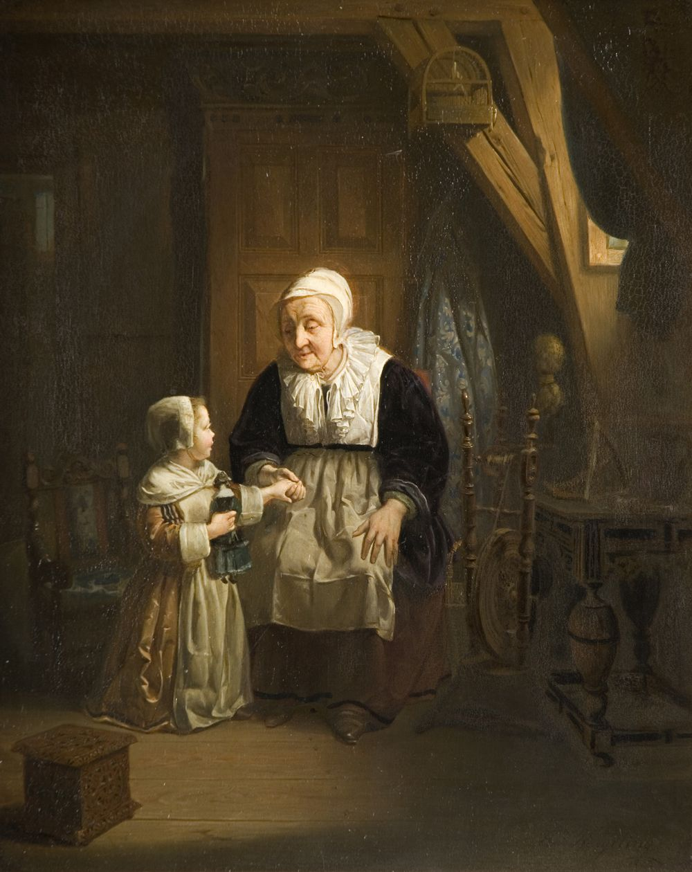 Woman and Child by Hendrick Ringeling, 1842.