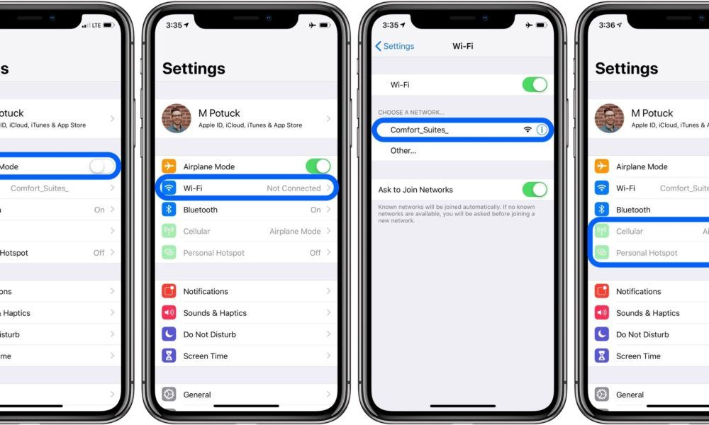 How To Use Wi Fi With Airplane Mode On Iphone Xs Airplane Mode Wifi Iphone