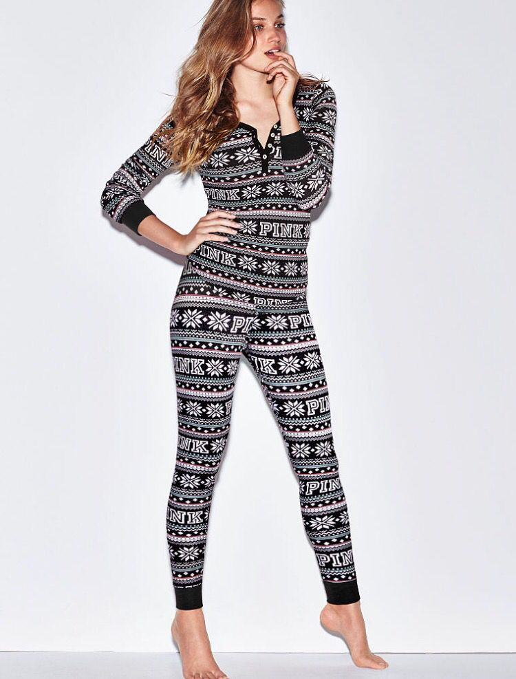 Thermal Sleep Legging PINK-red/white   When I Think of PINK ...