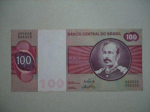 Brasil 100 Cruzeiros Com Imagens Cedulas Brasileiras Selos