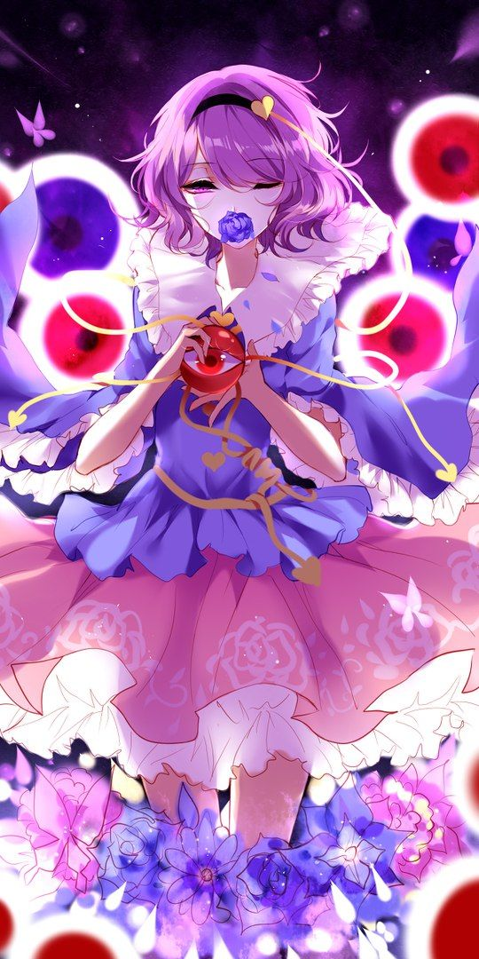 the 3rd eye is always watching touhou project 東方 project アニメの女の子 古明地さとり アニメのネコ