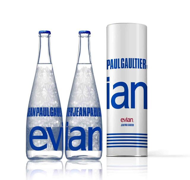 Evian Fashion Designer Collaborations The Terrier And Lobster Design De Communication Bouteille Packaging