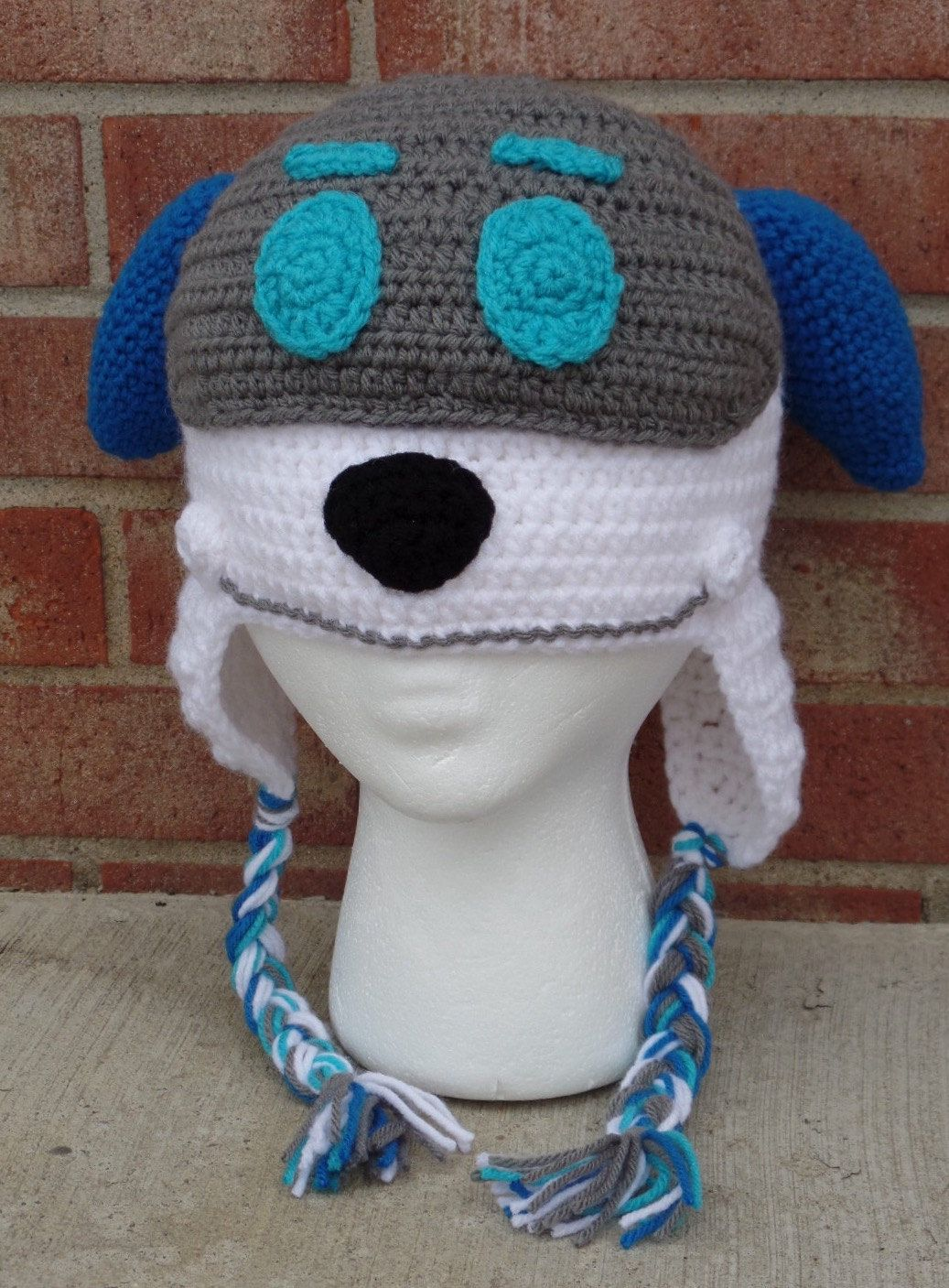 Robot Dog Crochet Hat; Paw Patrol Robo Dog Inspired Hat by ...