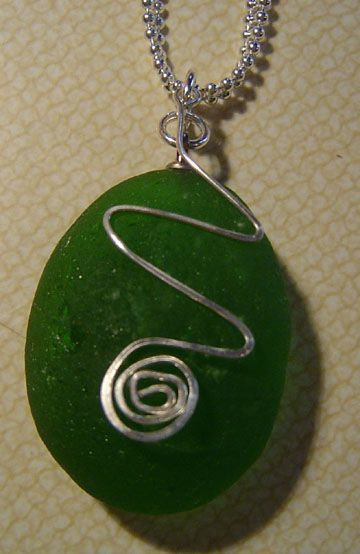 Photo of Green beach glass jewelry,  #Beach #Beachglassjewelrywirewrap #Glass #Green #Jewelry