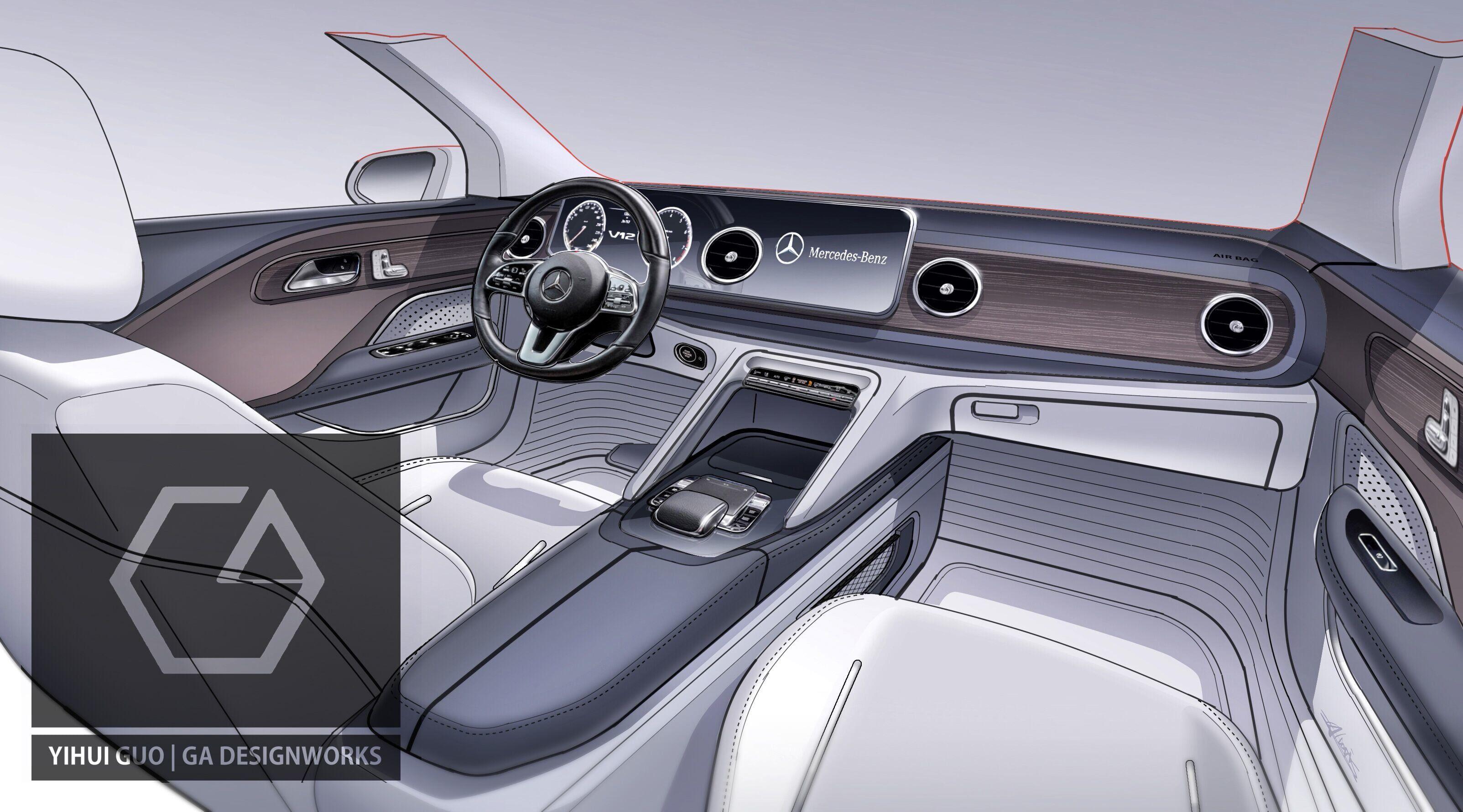 Episode02 Mercedes C Class Coupe Interior Rendering