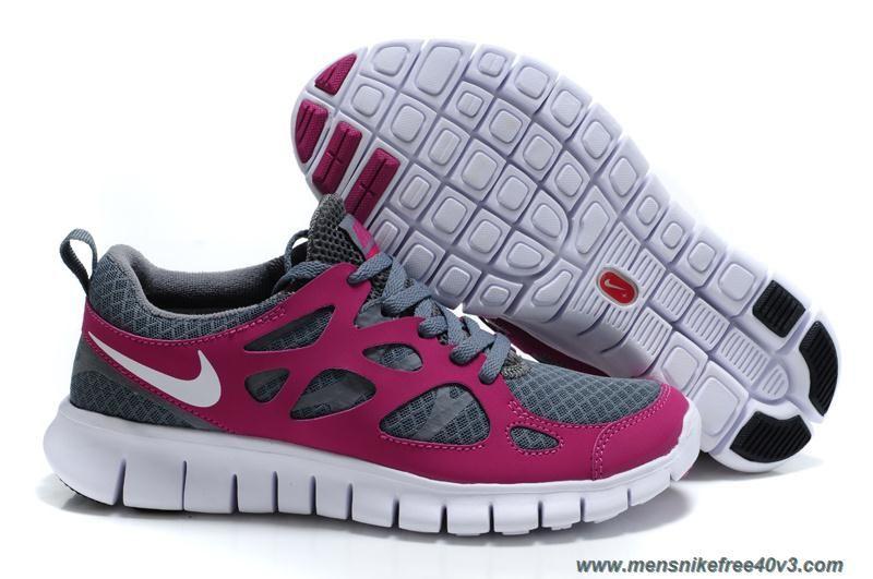 new arrival f9fa7 51483 Womens Tumbled Grey Vivid Grape White Nike Free Run 2 443816-069 Online