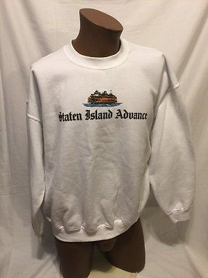 STATEN ISLAND ADVANCE Newspaper XL promo Sweatshirt New NYC FERRY NY Media  | eBay