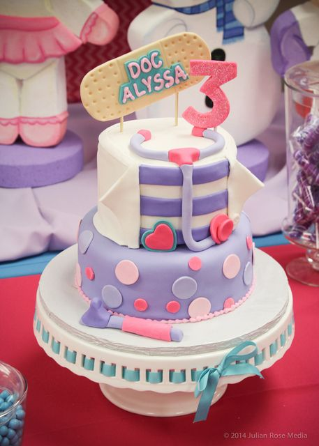 Peachy Doc Mcstuffins Birthday Party Cake See More Party Ideas At Birthday Cards Printable Nowaargucafe Filternl