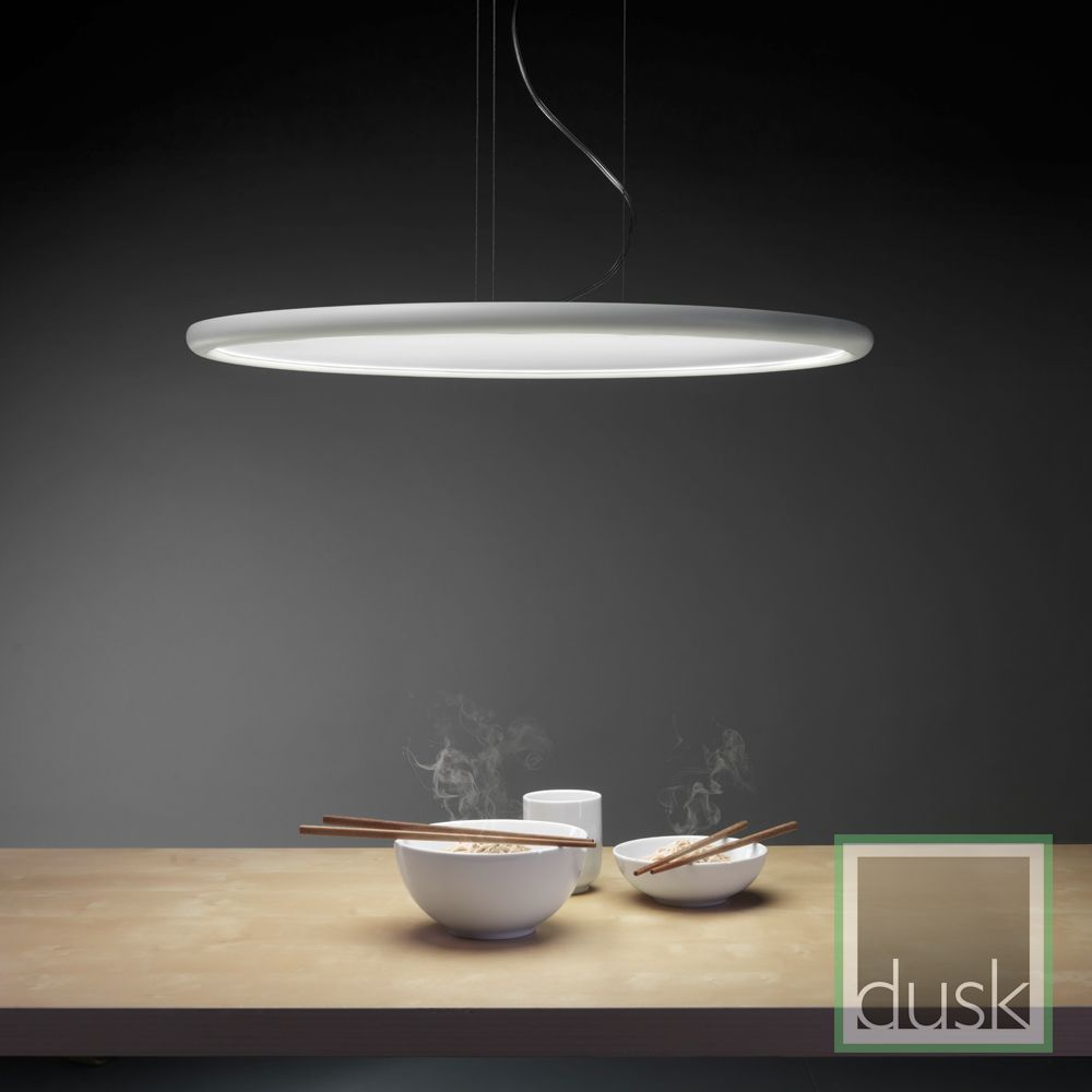 Grok Net Matt White Circular Led Pendant Light 00 0003 Bw