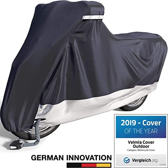 Amazon Com Velmia Motorcycle Cover Waterproof Outdoor Indoor Large Heavy Duty Premium Bike Cover Moped Cov In 2020 Motorcycle Cover Bike Cover Waterproof Outdoor