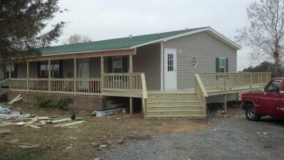 Diy decks and porch for mobile homes porches decks for Pictures of porches on mobile homes