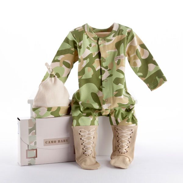 Big dreamzzz camo baby clothes personalization available camo baby aspen big dreamzzz baby camo layette set in backpack gift box negle Image collections