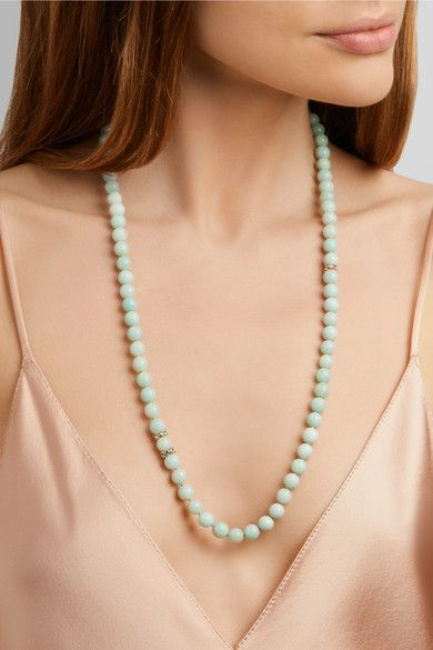Carolina Bucci Recharmed 18-karat Gold, Amazonite And Tanzanite Necklace