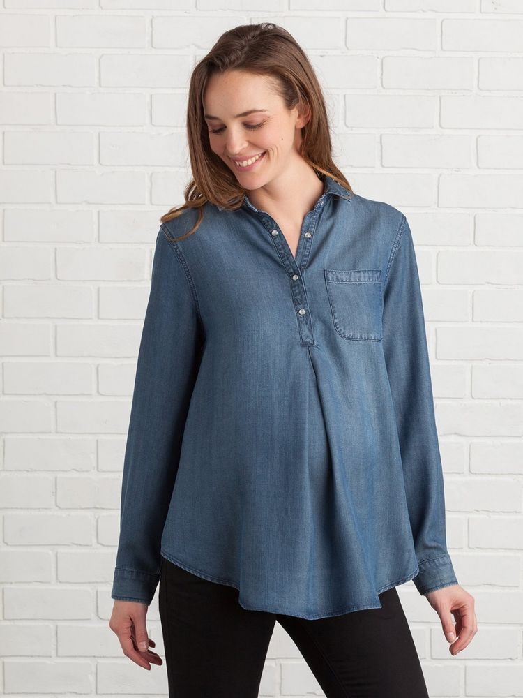 a0e059609d Vertbaudet Lyocell Maternity Shirt Blue Size 38 UK 12 rrp 26 DH085 MM 21 # fashion #clothing #shoes #accessories #womensclothing #maternity (ebay link)