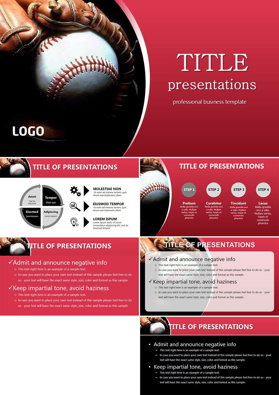 style baseball powerpoint templates | baseball | pinterest, Powerpoint templates