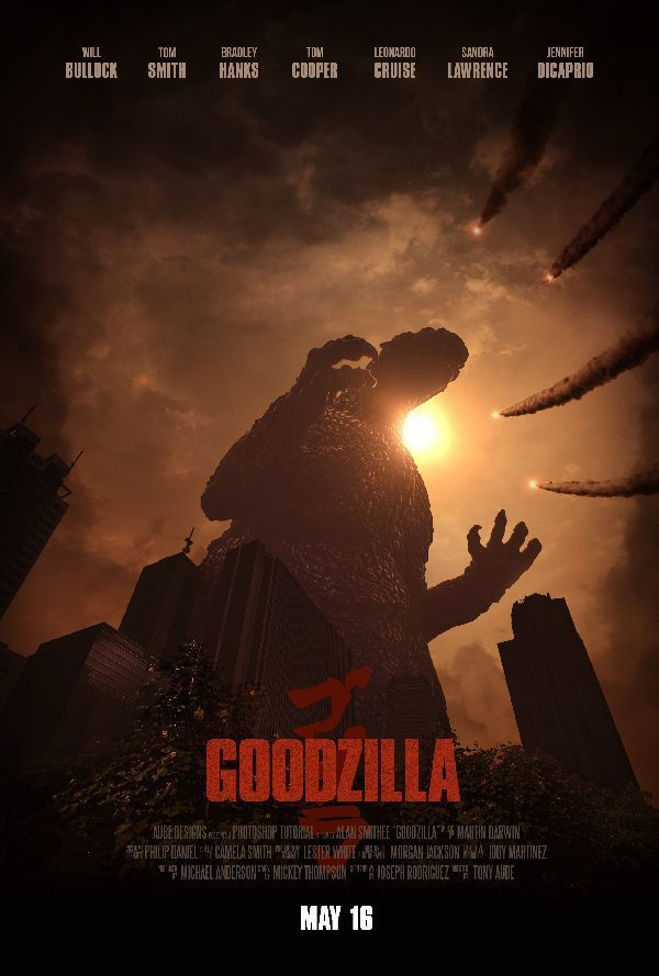 The original godzilla movie is probably one of the most important create an epic godzilla inspired movie poster in adobe photoshop tuts design illustration tutorial pronofoot35fo Image collections