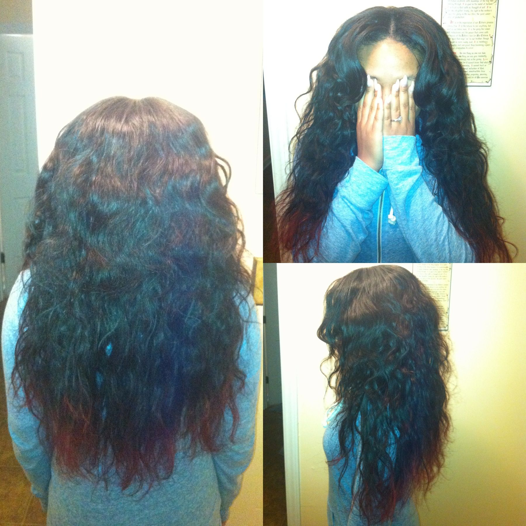 Partial sew-in body wave Brazilian hair done by me | Hair ... - photo#43