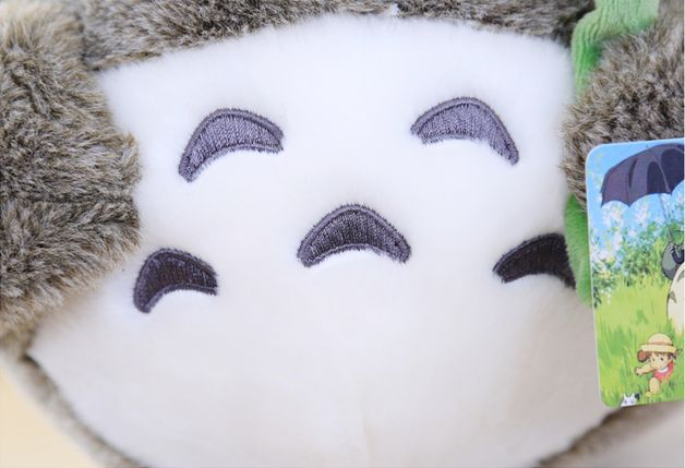 Totoro Teddy with lucky leaf  688e68a36808