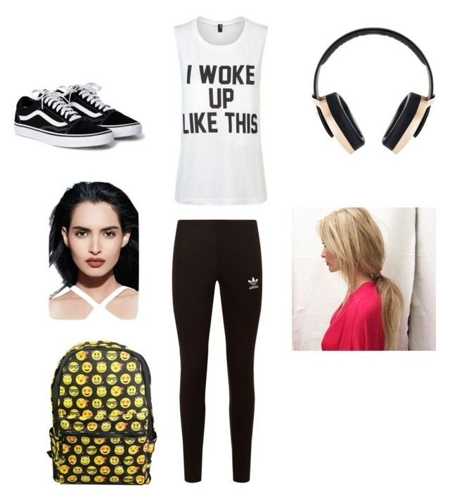 """School outfit by : Allison"" by allisonbowker on Polyvore featuring Private Party, Pryma, adidas Originals and Smashbox"