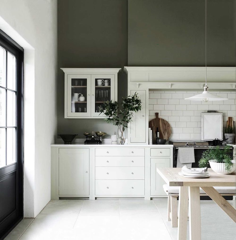 Colour in the kitchen With images   Green kitchen walls ...