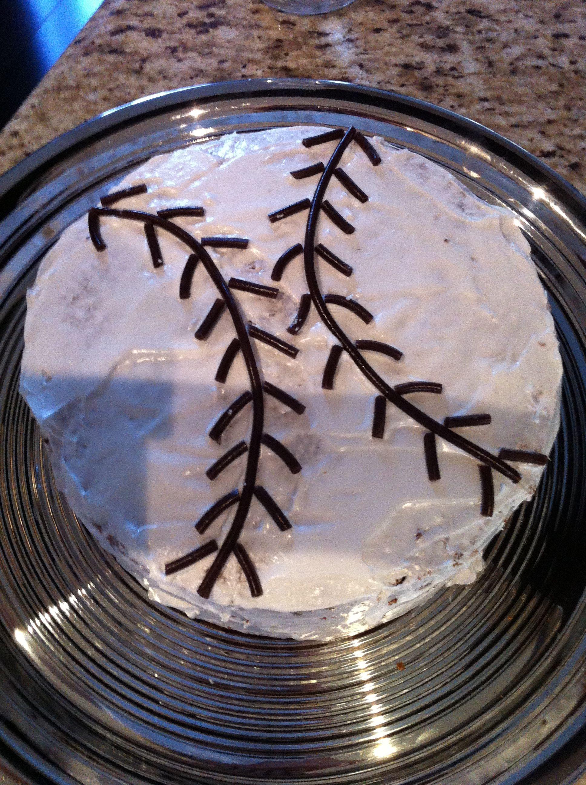 Simple baseball cake