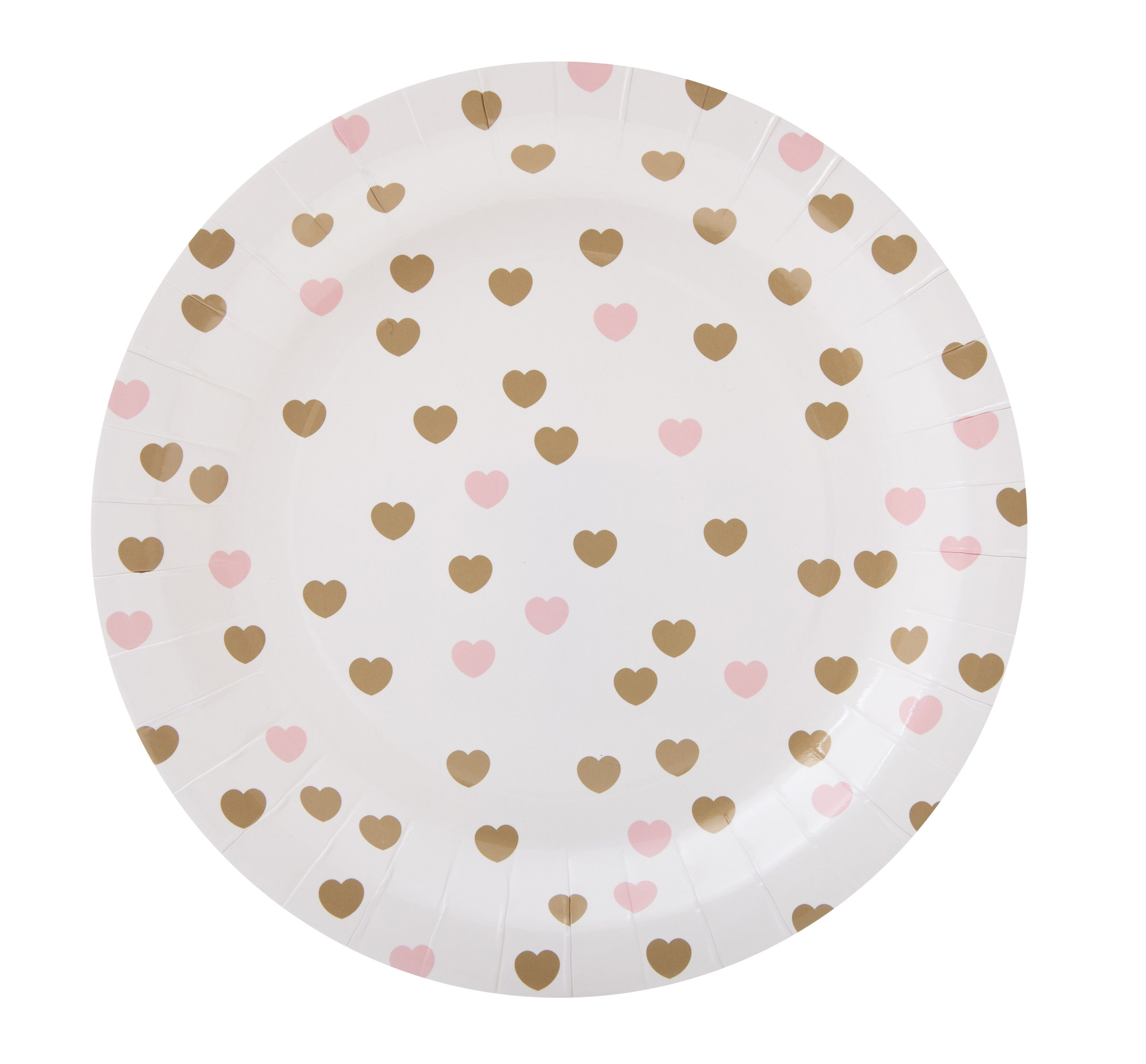 Baby Pink u0026 Gold Heart Paper Plate  The Party Cupboard Online Party Supplies Store Australia  sc 1 st  Pinterest & Baby Pink u0026 Gold Heart Paper Plate : The Party Cupboard Online Party ...