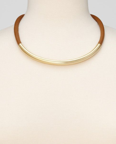$40.00 (sale price) - Ann Taylor Leather and Metal Necklace
