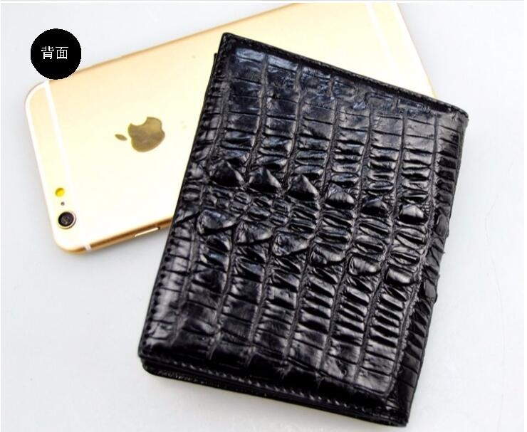 109.00$  Watch now - 100% genuine crocodile leather skin men wallet alligator skin  wallets money clip free shipping  #buymethat