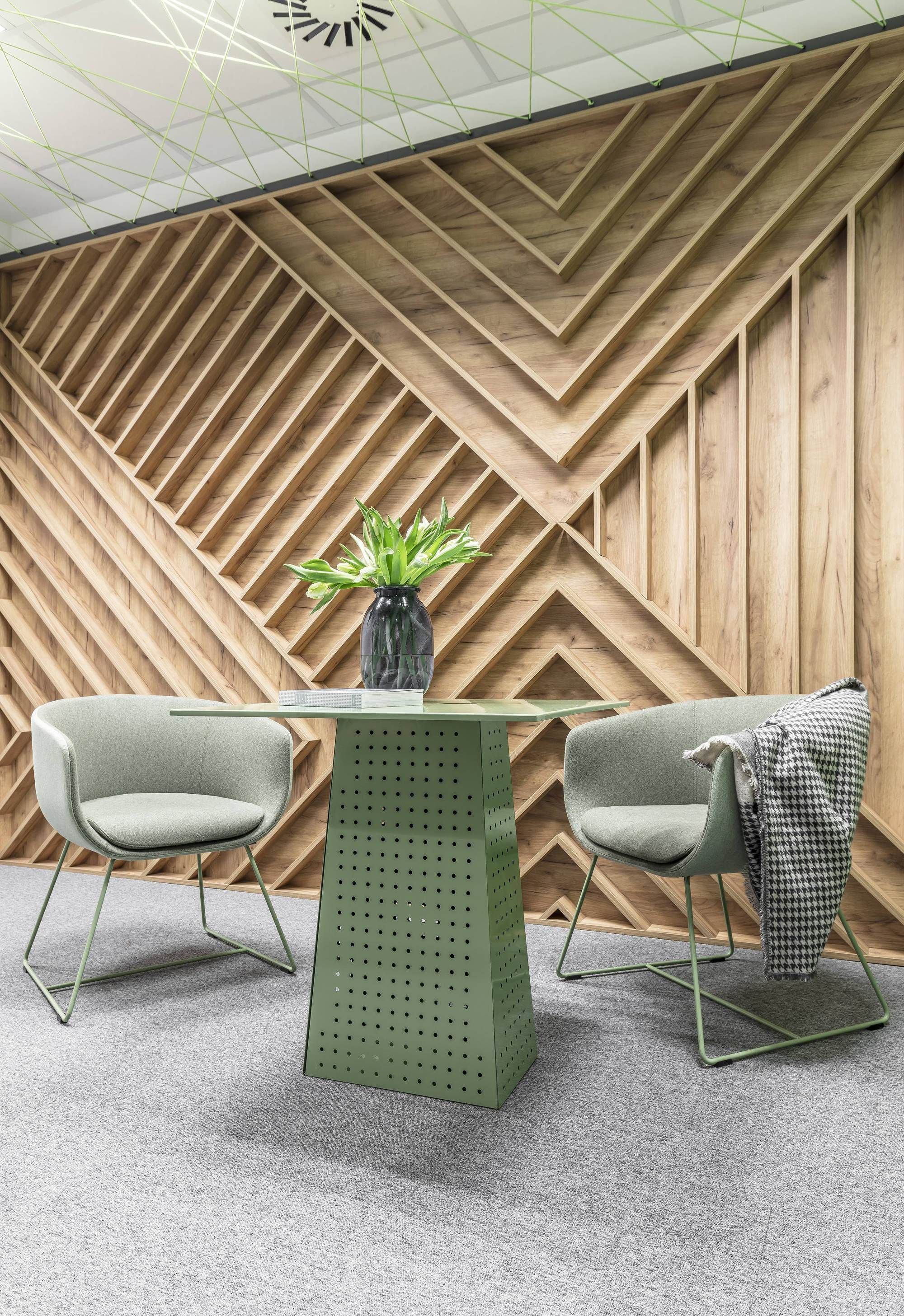 Gallery of office space in poznan zona architekci 16 - Interior design wood walls ...