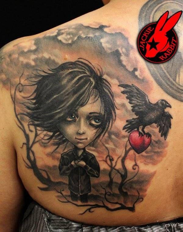 40 amazing raven tattoos raben tattoo ideen und vogel. Black Bedroom Furniture Sets. Home Design Ideas