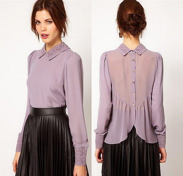 Модели блузок (176 фото): с длинным рукавом, коротким и без рукавов, трикотажные, из хлопка, шелка, шифона, летние 43