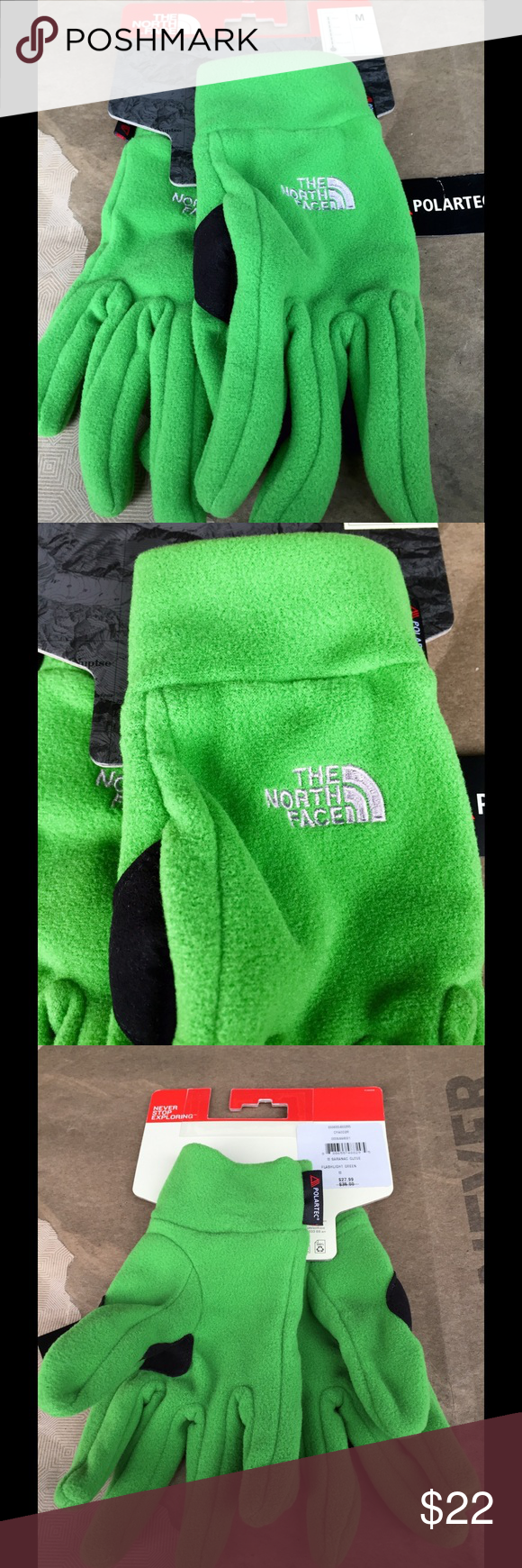 NWT The North Face Men's Saranac Gloves M Brand new with tag, The North Face Men's Saranac Gloves in Flashlight Green, size M. Price is firm. No trades. North Face Accessories Gloves