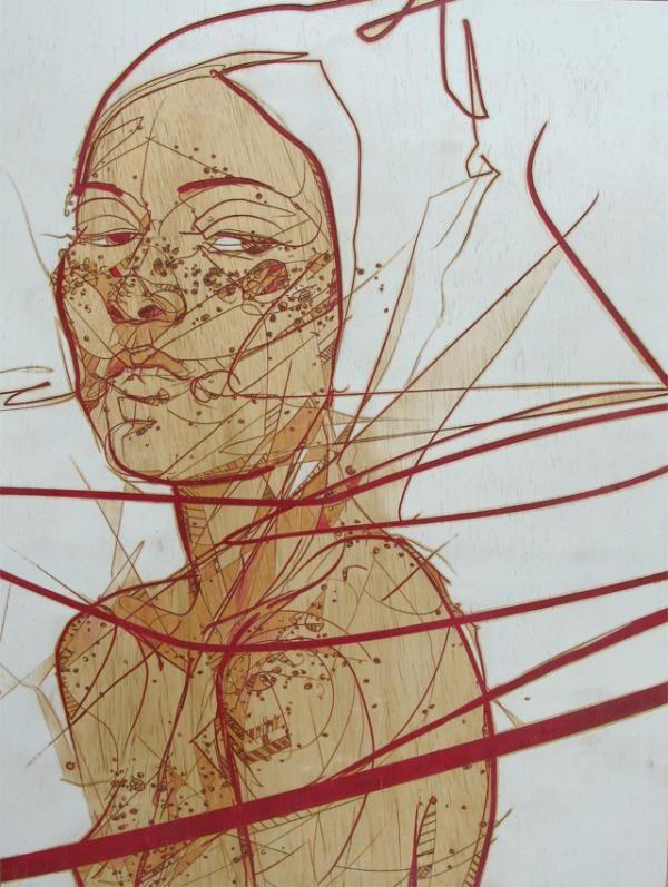 Dynamic Line Portraits by Jason Thielke