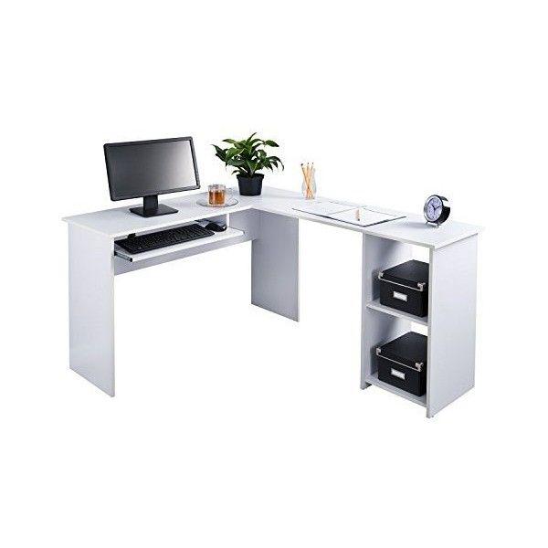 best choice products l shaped corner computer office desk furniture rh uk pinterest com home office computer desk furniture office furniture corner computer desk